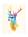 Sunny Stag Giclee Print by Robert Farkas