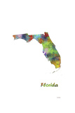 Florida State Map 1 Giclee Print by Marlene Watson