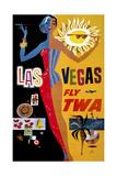 Las Vegas, Fly TWA Giclee Print