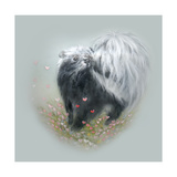 Love Is in the Air - Skunk Giclee Print by Peggy Harris