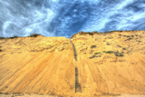 Cape Dune and Stairst Photographic Print by Robert Goldwitz