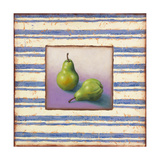Pears and Stripes Giclee Print by Rachel Paxton