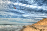 Cape Cod Kite Boarders Photographic Print by Robert Goldwitz