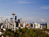 Seattle Cityscape, Seattle, Washington Photographic Print by Monte Nagler