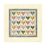 Hearts Patchwork Giclee Print by Robin Betterley
