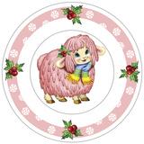 Dessert Plate Pink Lamb Reproduction photographique par Olga And Alexey Drozdov
