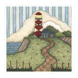 Red Diamond Lighthouse Giclee Print by Robin Betterley