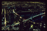East River NYC Bridges from WTC Photographic Print by Robert Goldwitz