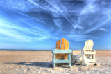 Two Chairs on the Beach Photographic Print by Robert Goldwitz