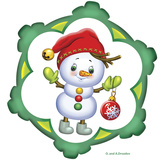 Snowman in a Red Cap Reproduction photographique par Olga And Alexey Drozdov