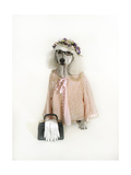 Poodle Dressed as Older Woman Giclee Print by Nora Hernandez