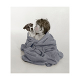 Little Kid and Dog Giclee Print by Nora Hernandez