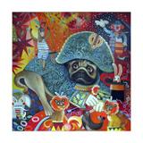 Circus Pug Giclee Print by Oxana Zaika