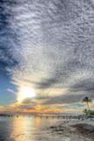 Key West Pier Sunset Vertical Photographic Print by Robert Goldwitz