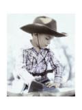 Little Boy Wearing Cowboy Hat Giclee Print by Nora Hernandez