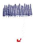 Alone in the Forest Giclée-tryk af Robert Farkas