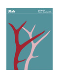 State Poster UT Utah Giclee Print