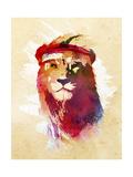 Gym Lion Giclee Print by Robert Farkas