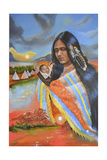 Ayasha (Little One) Giclee Print by Sue Clyne