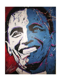 Obama Painting 001 Giclee Print by Rock Demarco