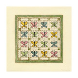Butterfly Patchwork Giclee Print by Robin Betterley