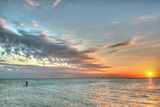 Key West Paddleboard Sunset Photographic Print by Robert Goldwitz