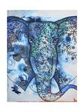 Blue Elephant Giclee Print by Oxana Zaika