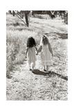 Girls Walking Down the Path, Friends Giclee Print by Nora Hernandez