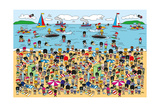 Toy Soldiers - Beach Giclee Print by  The Paper Stone