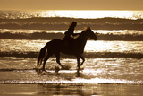 Girl on a Running Horse on the Beach Photographic Print by Nora Hernandez