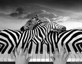 Piano Peace Giclée-tryk af Thomas Barbey