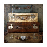 Suitcases Giclee Print by  Symposium Design