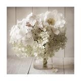 White Flower Vase Giclee Print by  Symposium Design