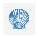 Shell in Blue Lámina giclée por Stephanie Marrott