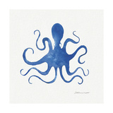 Octopus in Blue Lámina giclée por Stephanie Marrott