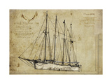 Yatch I Giclee Print by  Sidney Paul & Co.