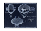 French Airship Balloon 1784 Giclee Print by Tina Lavoie