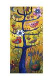 Santosha Tree 2 (Tree of Contentment 2) Giclee Print by Sara Catena
