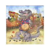 Autumn Alligator Giclee Print by Wendy Edelson