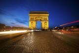 Arc de Triomphe Blue Hour Photographic Print by Sebastien Lory