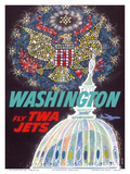 Washington, D.C. - Fly TWA Jets (Trans World Airlines) Print by David Klein