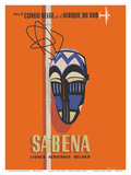Congo - South Africa - Sabena, Lignes Aeriennes Belges (Belgian Airlines) Prints by  Hohet