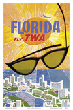 Florida - Fly TWA (Trans World Airlines) Poster by David Klein