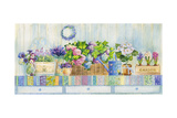 Hydrangea Potted on a Table Giclee Print by ZPR Int'L