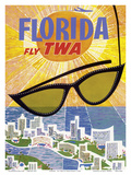 Florida - Fly TWA (Trans World Airlines) Prints by David Klein