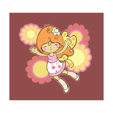 Flying Fairy Giclee Print by Valarie Wade