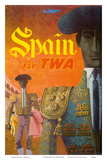 Spain - Fly TWA (Trans World Airlines) - Matadors Prints by David Klein