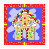 Gingerbread House Giclee Print by Valarie Wade