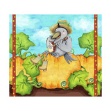 Farmer Crow Pumpkin Patch Giclee Print by Valarie Wade