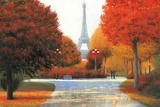 Autumn in Paris Couple Poster by James Wiens